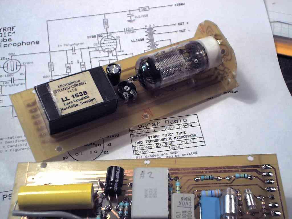 一个强人diy的电子管话筒